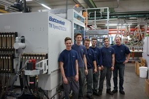 Apprentices at Fries Kunststofftechnik