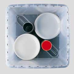Vario tool_variables Sicherungselement Transportbox für Teller mit Durchmesser 19 cm