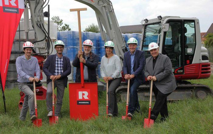 Spatenstich für den Neubau der Lagerhalle der Fries Kunststofftechnik GmbH