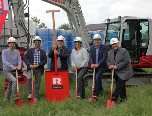 Ground-breaking ceremony for new warehouse