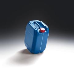 Kanister Kunststoff lebensmittelecht und UN SLT 22,5 l mit Sichtstreifen und Füllstandsmarkierung