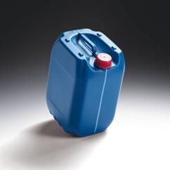Kanister Kunststoff lebensmittelecht und UN SLT 27,5 l mit Sichtstreifen und Füllstandsmarkierung