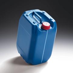 Kanister Kunststoff lebensmittelecht und UN SLT 32,5 l mit Sichtstreifen und Füllstandsmarkierung