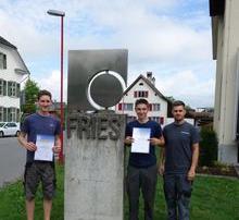 Fries Kunststofftechnik Lehrlinge beim Leistungswettbewerb