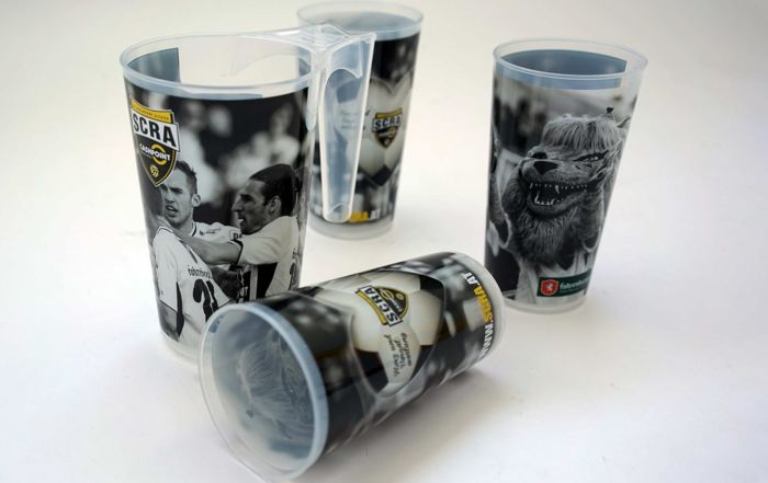 Reusable plastic cups Arena Cups with SCR Altach Logo