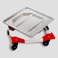 Transportwagen mit herausnehmbarer Abtropfwanne ROL 500x500 mm mit Lenkrollen