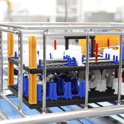 Anwendungsbeispiel tech-rack variogrid Werkstückträger