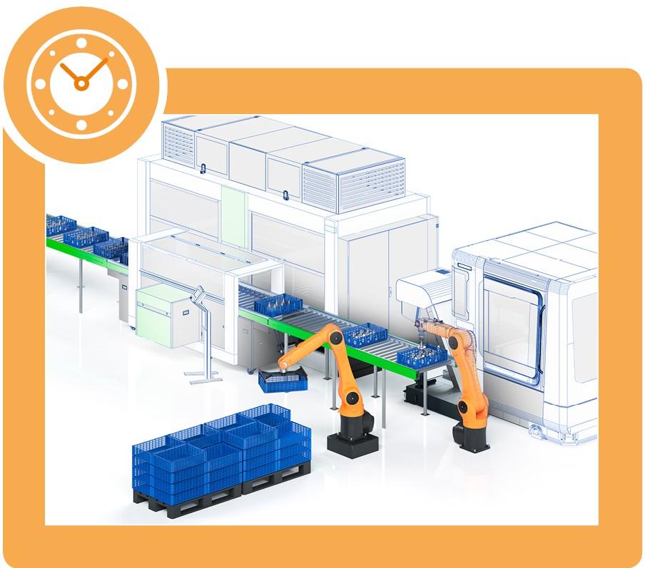 machine automatique paniers industriel fries