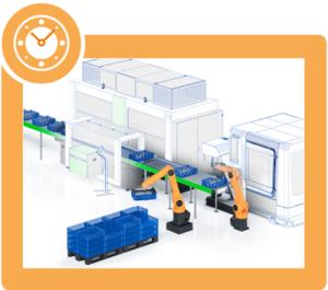 automatic machine handling workpiece carrier