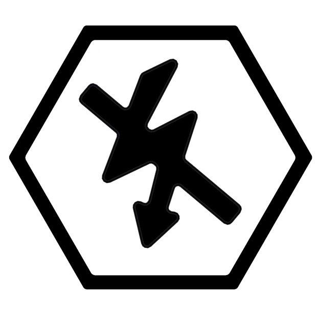 Symbol elektrisch ableitfähig