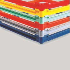 farbige Toprahmen für Gläserkörbe 500x500 mm