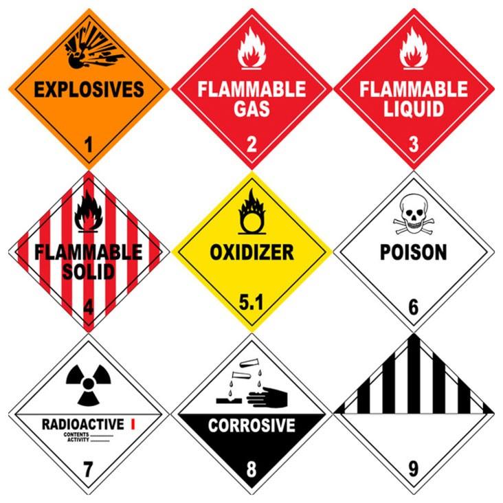 clases de mercancias peligrosas