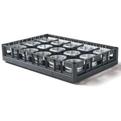 Werkstückträger techrack 600x400 mit Metallteilen